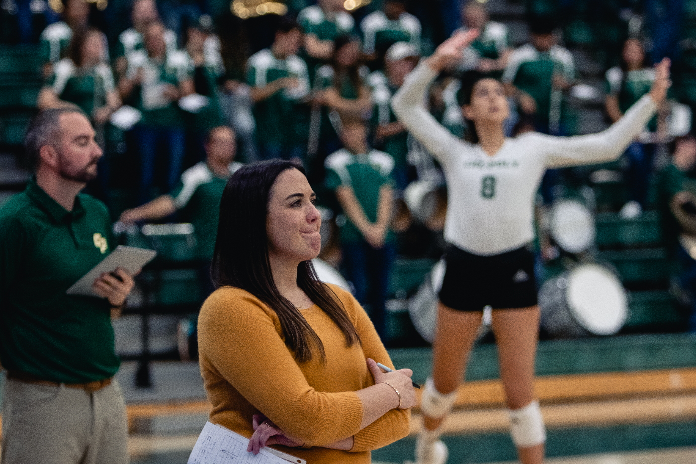 How First Year Head Coach Caroline Walters Continued Cal Poly Volleyball S Success Mustang News